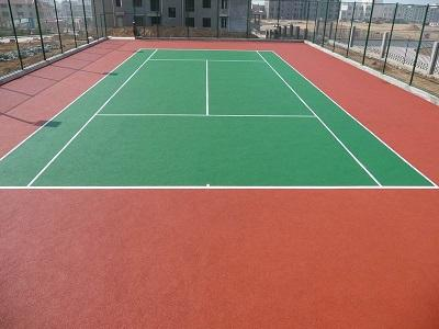 硅PU网球场地