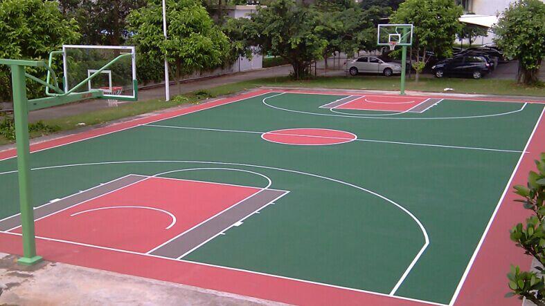 聚氨酯塑胶篮球场